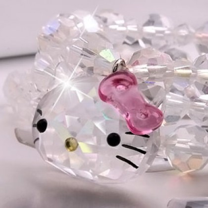 Hello Kitty Crystal Charm Bracelet