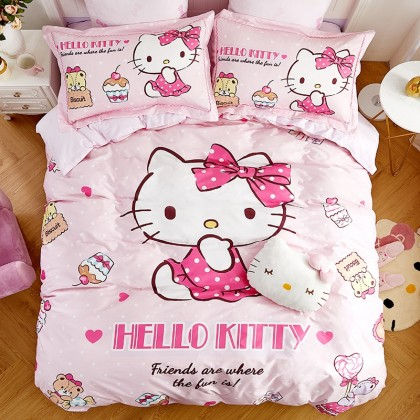 Hello Kitty Cupcake Duvet Cover Set