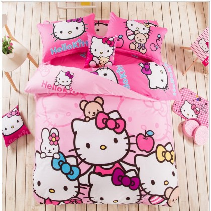 Hello Kitty Pink Duvet Cover Set