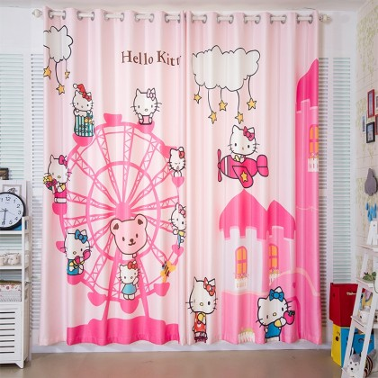 Hello Kitty on Ferris Wheels Curtain Set