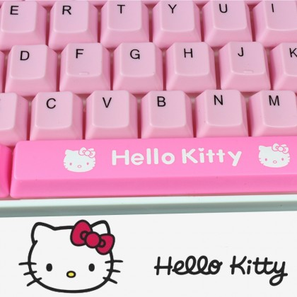 Hello Kitty USB Pink White Keyboard