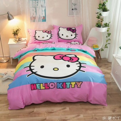 Hello Kitty Rainbow Duvet Set