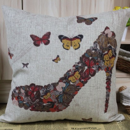 Butterfly High Heel Shoe Cushion Cover