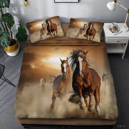 Horse Theme Duvet Cover Set 10