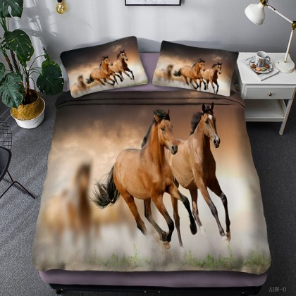 Horse Theme Duvet Cover Set 01