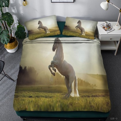 Horse Theme Duvet Cover Set 03