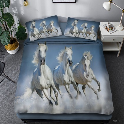 Horse Theme Duvet Cover Set 06