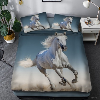 Horse Theme Duvet Cover Set 07