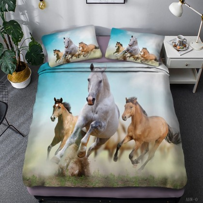 Horse Theme Duvet Cover Set 08