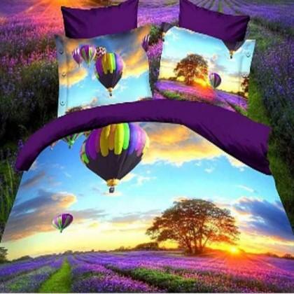Hot Balloon Lavender Bedding Set