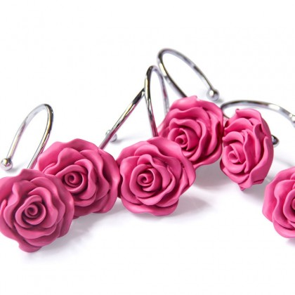 Roses Shower Curtain Hooks