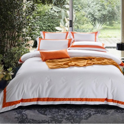 Hotel Egyptian Cotton Duvet Cover Set- Orange