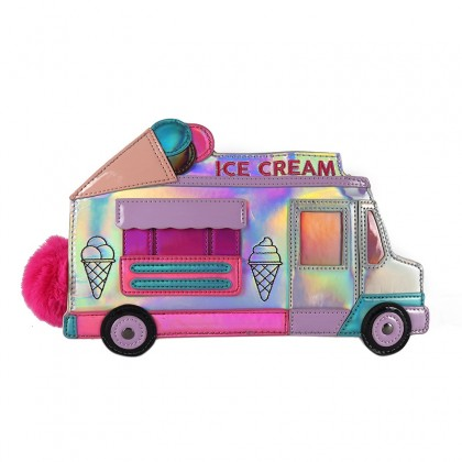 Ice Cream Truck Purse Iridescent Rainbow Bling Bag