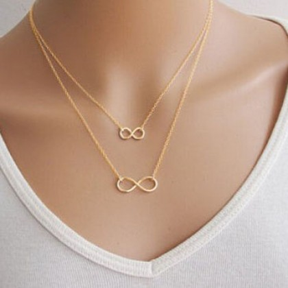 Double Infinity Symbol Necklace