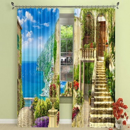 Italy Island Blackout Curtain Set
