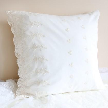 Luxury Embroidery Lace Sham