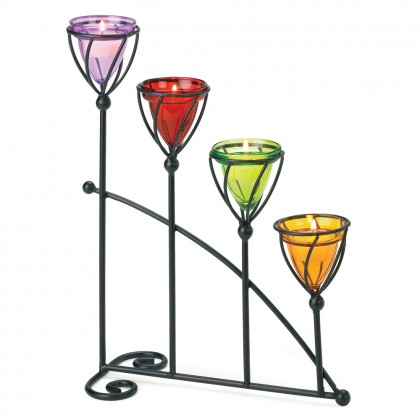 Jewel Toned Candleholder