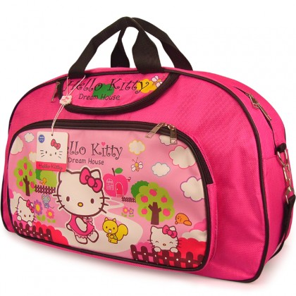 Hello Kitty in Apple Farm Fuschia School Travel Bag