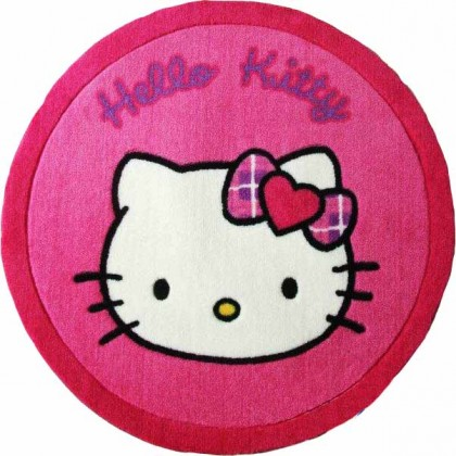 Hello Kitty Face Round Rug