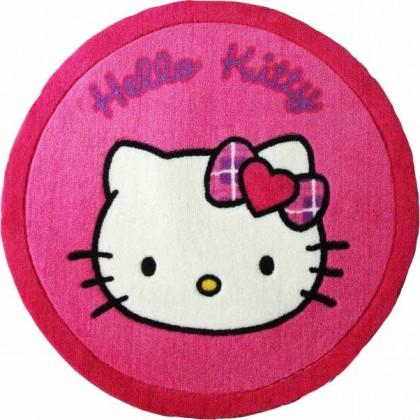 Hello Kitty Face Round Rug