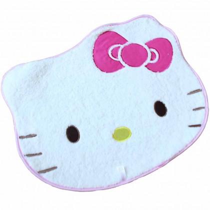 Hello Kitty Face Pink Bowtie Floor Bath Mat