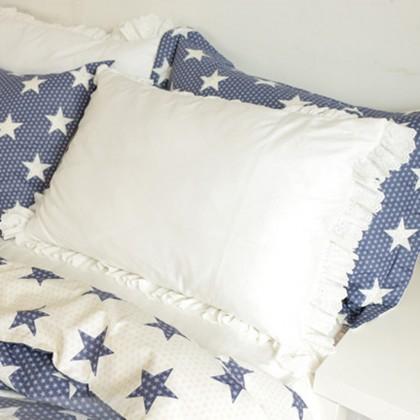 Embroidery Lace Ruffle Pillow Sham