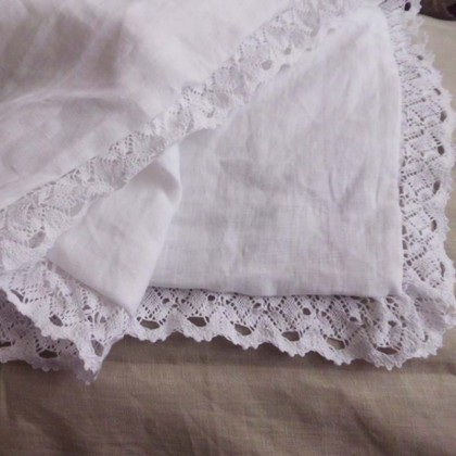 Cotton Lace Linen Queen Pillow Sham
