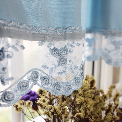 Blue Lace Valance