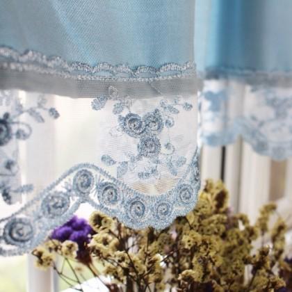 Blue Lace Valance