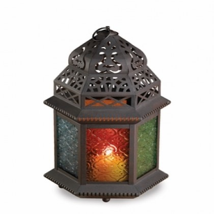 Large Glass Candle Lantern
