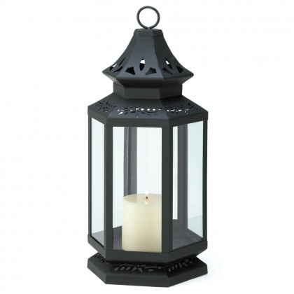Large Black Stagecoach Lantern