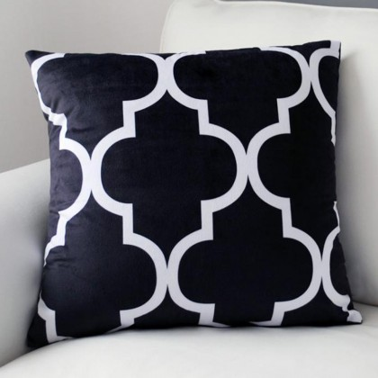 Quatrefoil Moroccan Lattice Cushion Cover