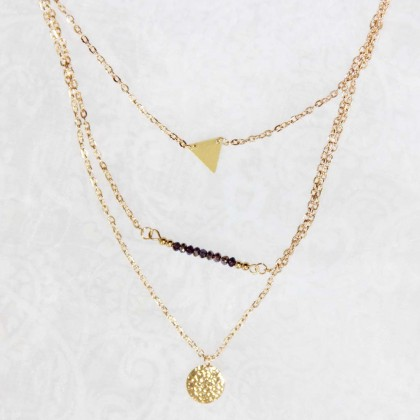 Lariat Layering Triangle Necklace