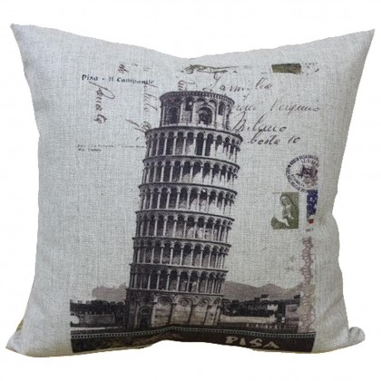 Leaning Tower of Pisa Cushion Cover
