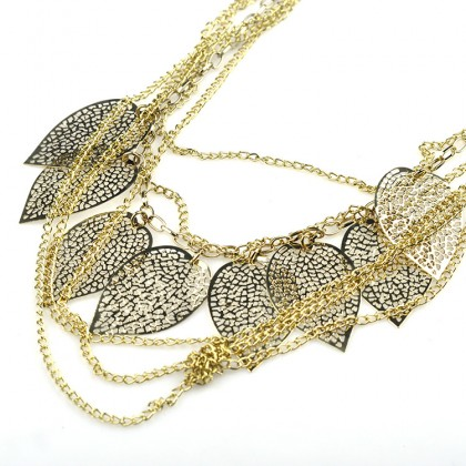 Leaves Layered Chain Necklace