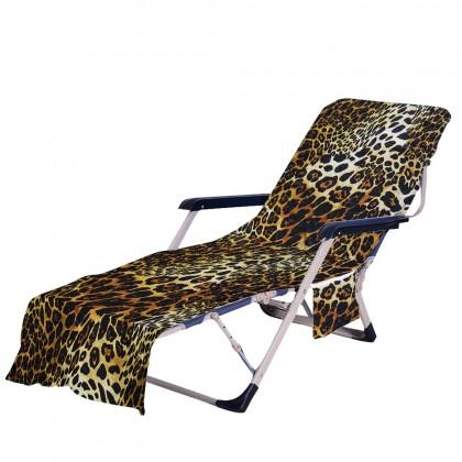 Leopard Beach Chair Chaise Chair Patio Chair Cover