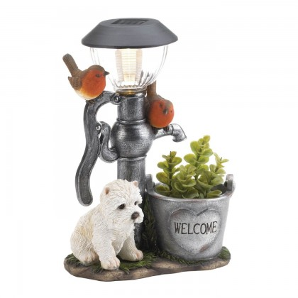 Little Pup Water Pump Solar Light