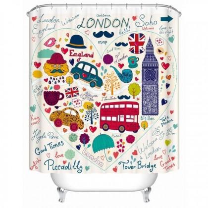 London Big Ben Clock Shower Curtain