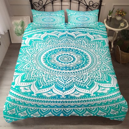 Mandala Flower Duvet Cover Set