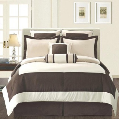 Manhattan Duvet Cover Set, White