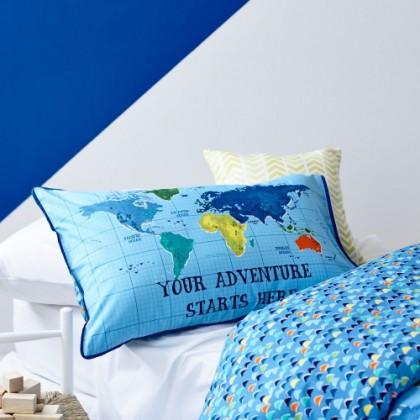 World Map Travel Duvet Cover Set