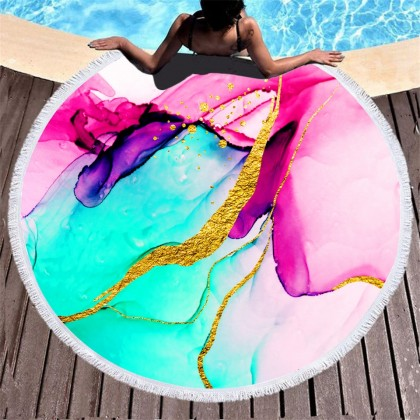 Abstract Marble Towel Picnic Blanket