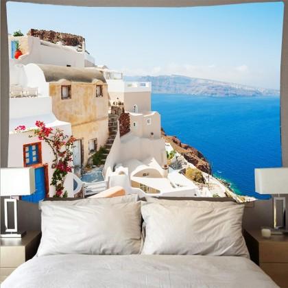Mediterranean Sea Crete Greece Fashion Bohemian Wall Art Tapestry A