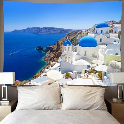 Mediterranean Sea Crete Greece Fashion Bohemian Wall Art Tapestry B
