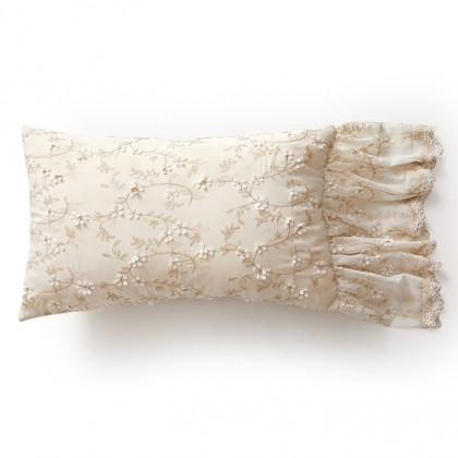 Mermaid Lace Ruffle Decorative Pillow