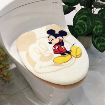 Mickey Mouse Toilet Seat Lid Cover 2pcs set