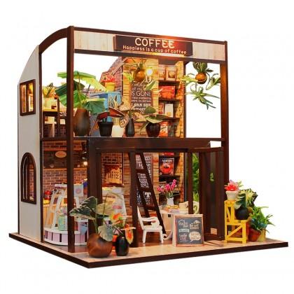 Miniature Coffee Shop DIY Dollhouse Kit