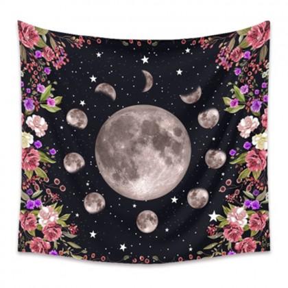 Moon Phase Night Garden Fashion Bohemian Wall Art Tapestry