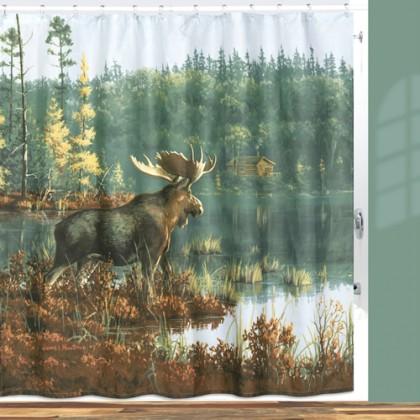 Blackwood Moose Shower Curtain