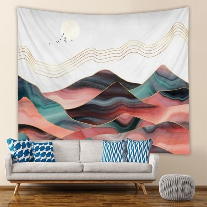 Mountain View Fashion Bohemian Wall Art Tapestry
